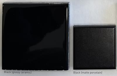 Color: Black  (Glossy Ceramic; Matte Porcelain)