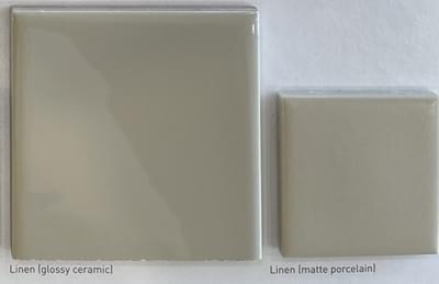 Color: Linen (Glossy Ceramic; Matte Porcelain)