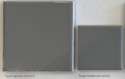 Color: Taupe (Glossy Ceramic; Matte Porcelain)