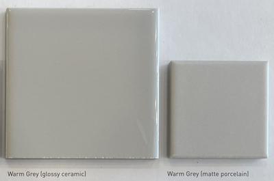 Color: Warm Grey (Glossy Ceramic; Matte Porcelain)